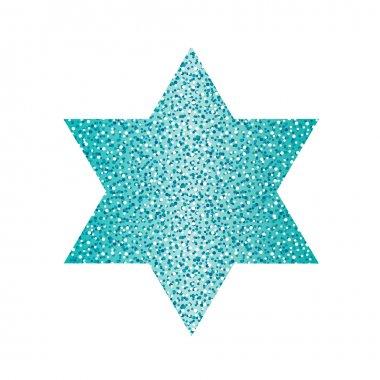 Glitter David star symbol
