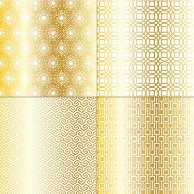 Golden geometric patterns