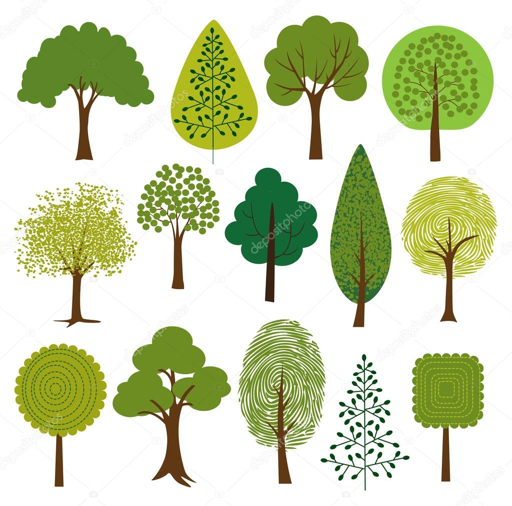 Different Trees clip art