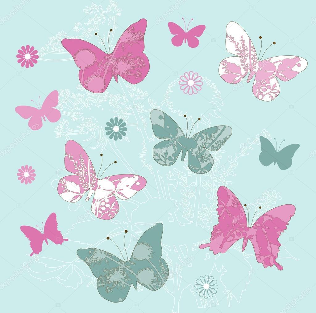 Afbeeldingen Van Bloemen En Vlinders