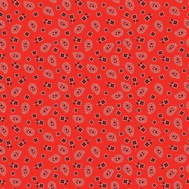 bright red bandana pattern