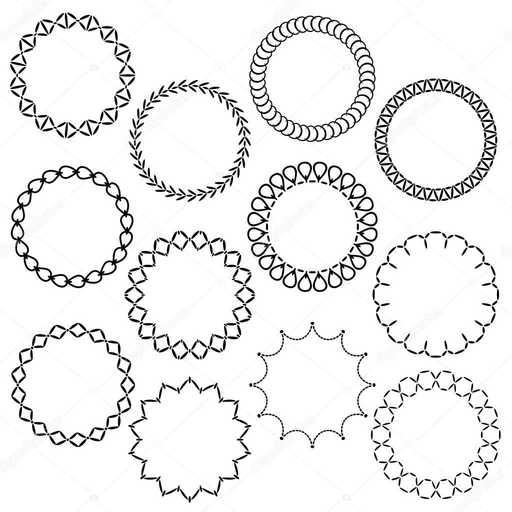 verzieren weihnachten Kreis Rahmen — Stockvektor © scrapster #92560840