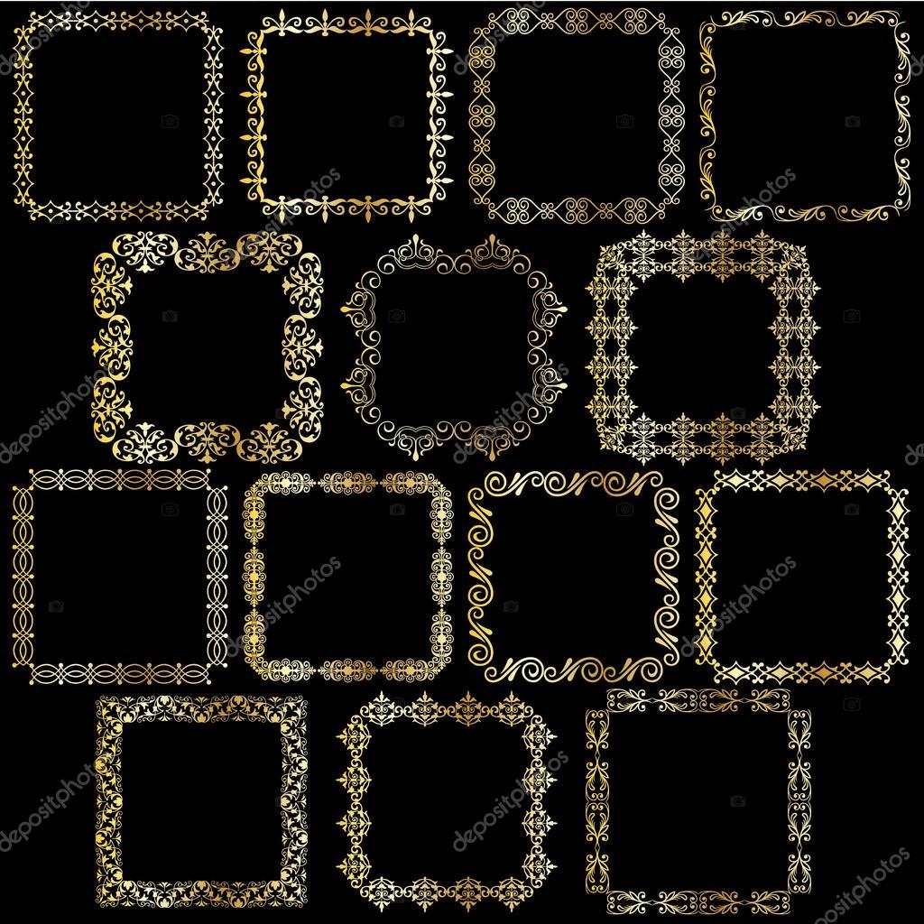 Gold quadratischen Rahmen — Stockvektor © scrapster #92563242