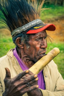 Flute playing in Papua New Guinea