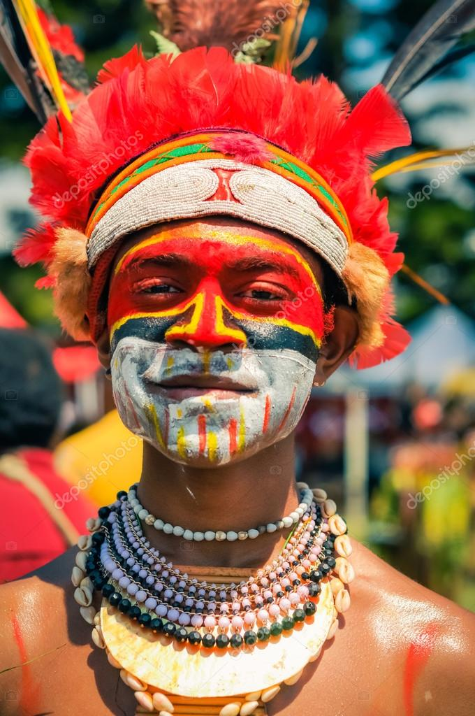 Man With Belt In Papua New Guinea Editorial Stock Image