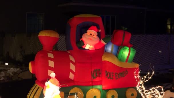 Santa je nafukovací vlak vánoční displej