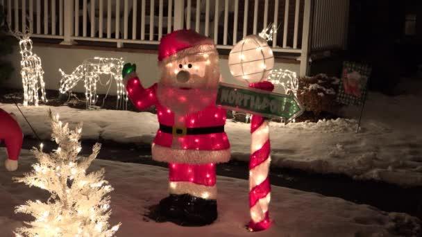 Severní pól Santa znamení zaúčtovat displej