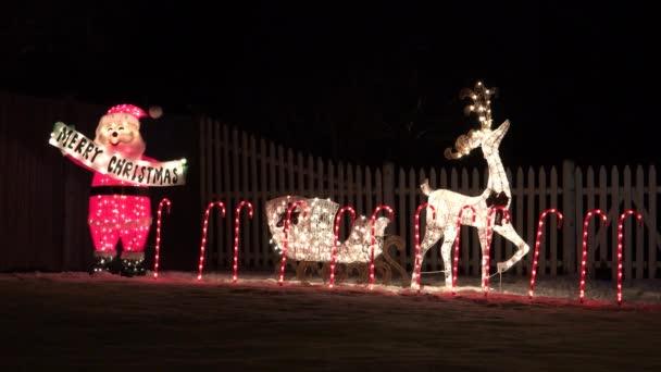 Santa a sobů osvětlený Vánoční dekorace, smyčka