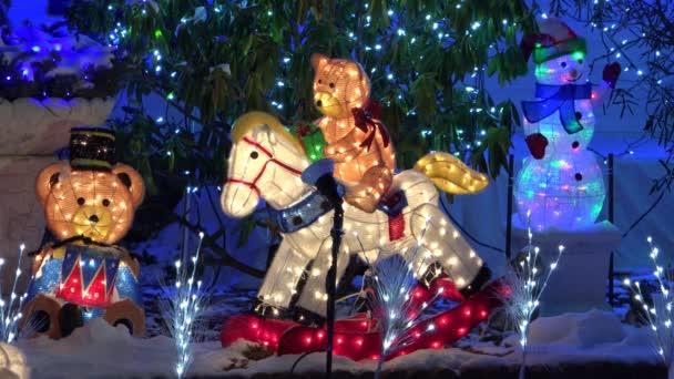 Vánoční medvídci osvětlený displej