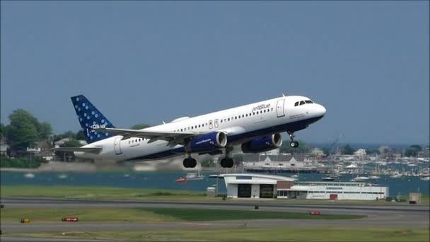 JetBlue airplane slow motion take off