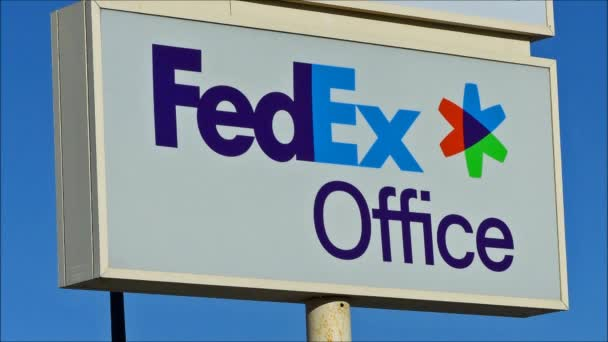FedEx sign above office
