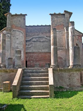 The Temple of the Egyptian Goddess Isis in the Roman city of Pompeii in Italy