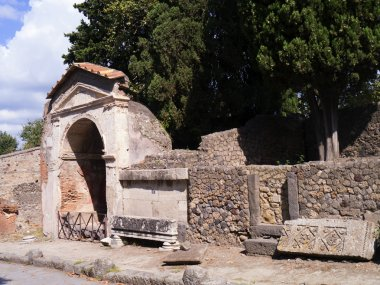Ruins in the Once Buried City of Pompeii Italy