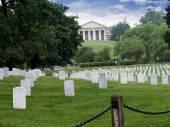 Fotografie Robert E Lees Haus am Nationalfriedhof Arlington in Virginia, Usa