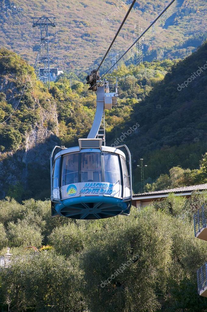 Cable Car Up Monte Baldo In Malcesine On Lake Garda In The