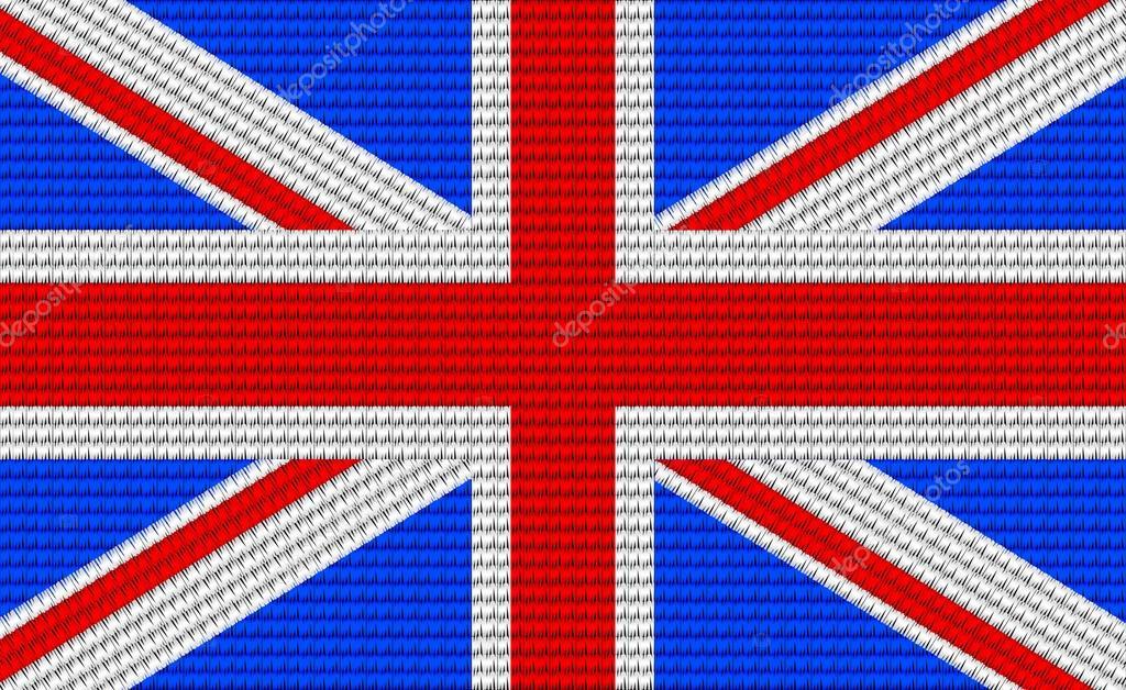 Patrón de diseño de bordado de bandera de Reino Unido — Archivo ...
