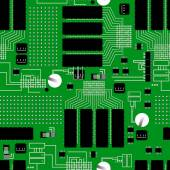 Fotografie Green circuit board seamless pattern