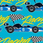 Photo Open wheel racing car seamless pattern