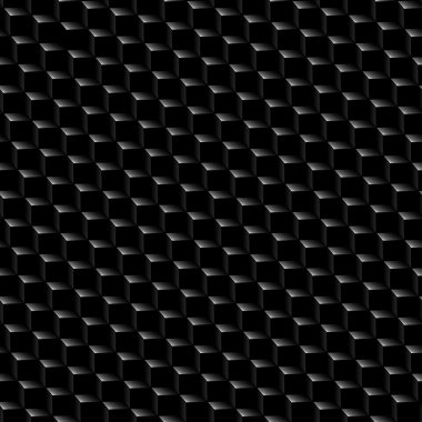 Black graphite cubed texture seamless pattern