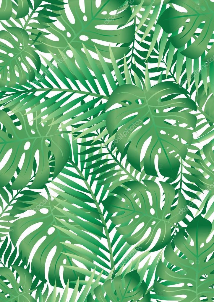 Листья зеленые обои 6
