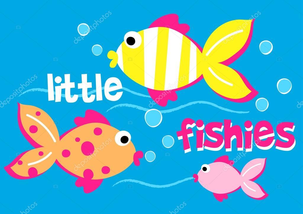 Tre pesciolini nuotare nel mare vettoriali stock for Immagini pesciolini
