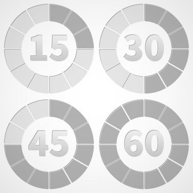 Set timers black and white