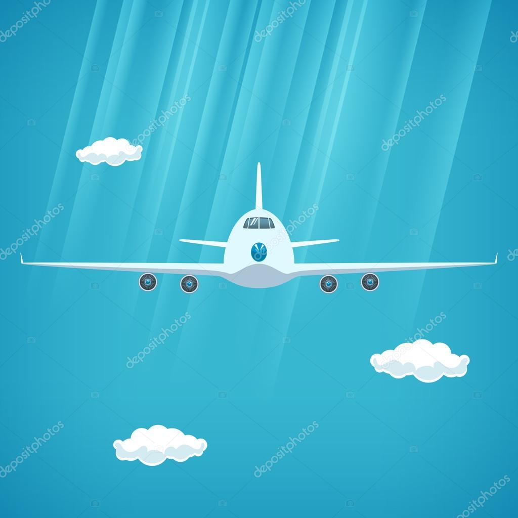 空飛行機の正面の平面 ストックベクター Serz72 116244188