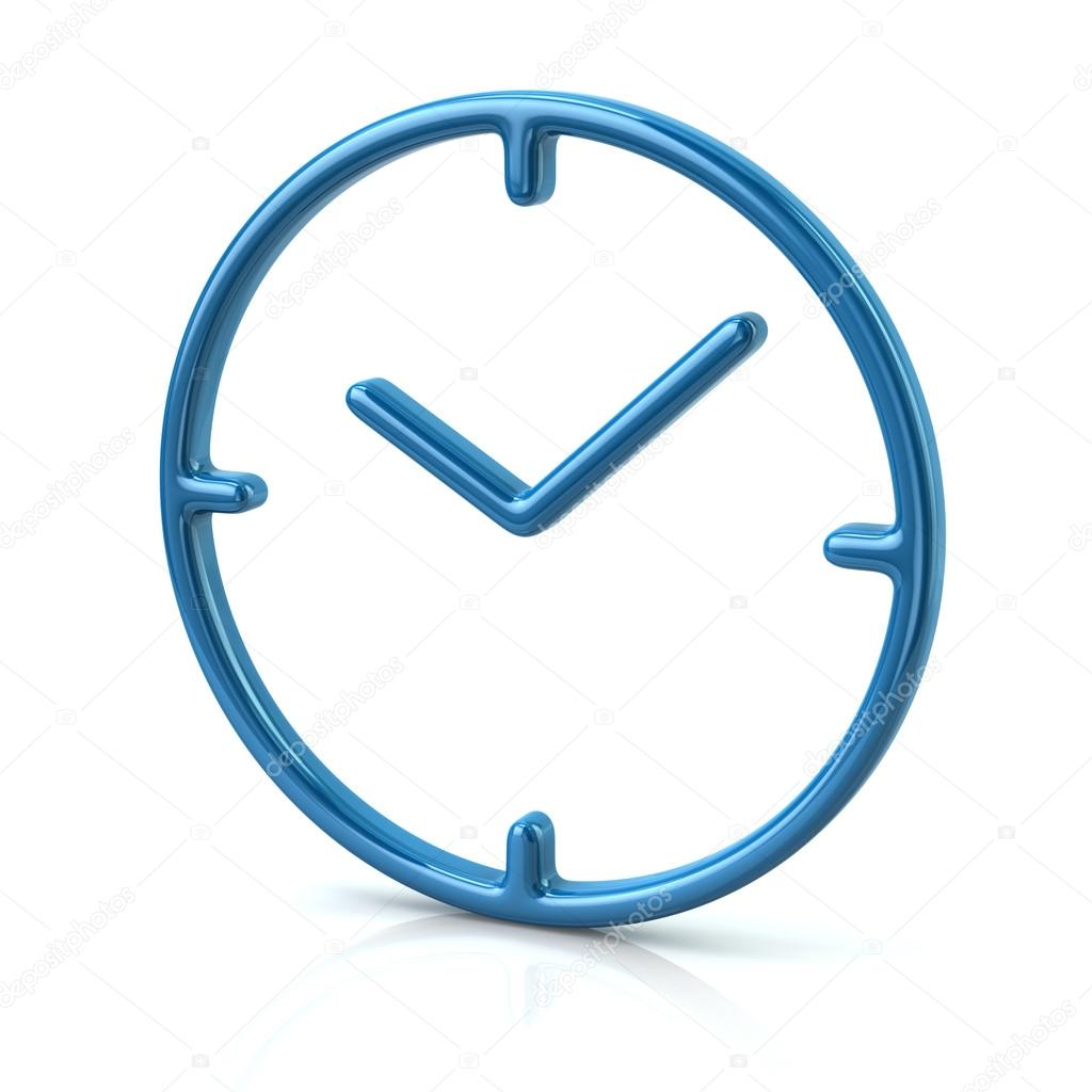 blue time clock icon stock photo valdum 107507700