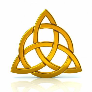 Golden celtic trinity knot