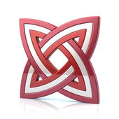 Photo red and white knot symbol