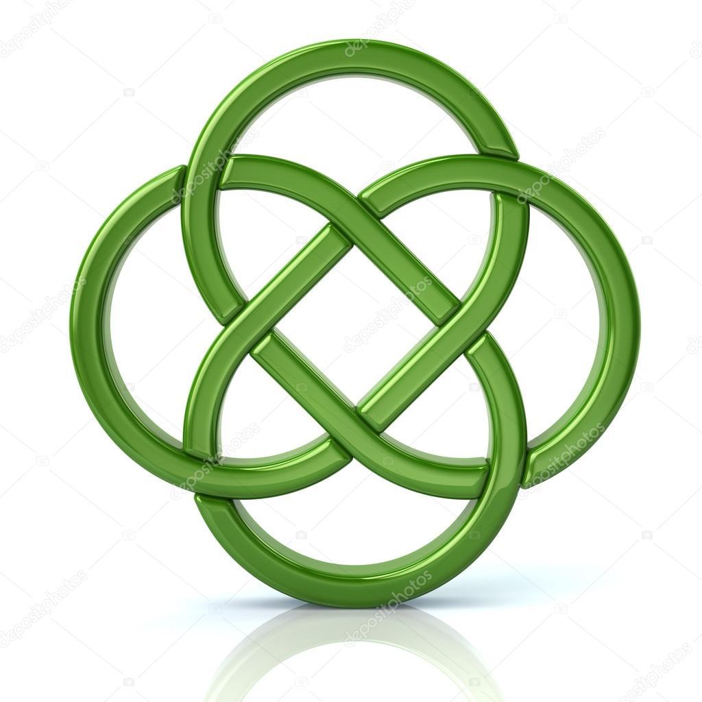 Endloser Knoten Keltisches Symbol Stockfoto Valdum 116554726