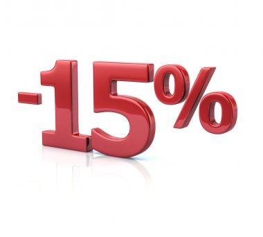 15 percent discount icon