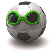 Szórakoztató futball-labda, és a sun napszemüveg