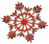 Fotografia Icona del fiocco di neve su bianco