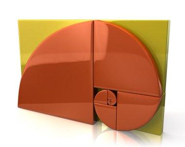 Orange golden ratio icon