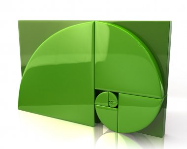Green golden ratio icon