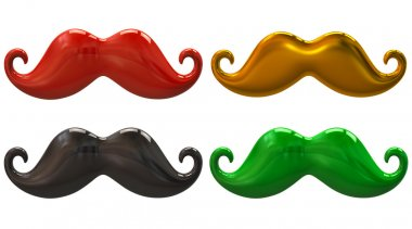 Mustaches set  isolated