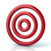 Red target, aim symbol