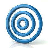 Blue target symbol