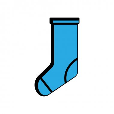 Winter socks flat icon. winter symbol. simple design editable. design vector illustration icon