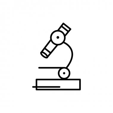 Microscope line icon. education symbol. simple design editable. design vector illustration icon