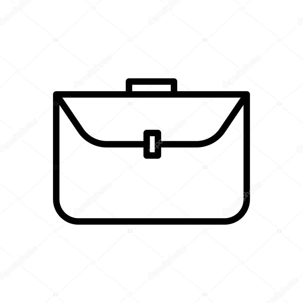 Business bag line icon icon