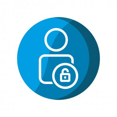 User with unlock icon. Simple illustration mobile concept, web design, application, UI. Design template vector icon