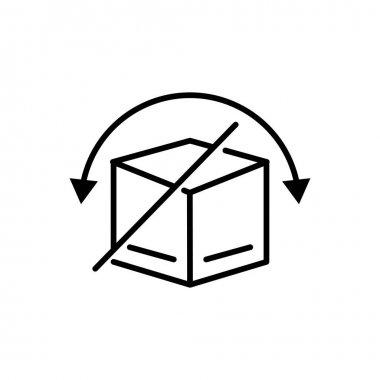 Cargo box line icon. icon do not be reversed. Editable stroke. Design template vector icon