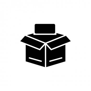 Open box line icon. Editable stroke. Design template vector icon