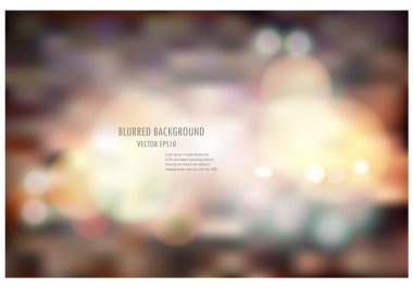 Abstract blur bokeh light soft color background.