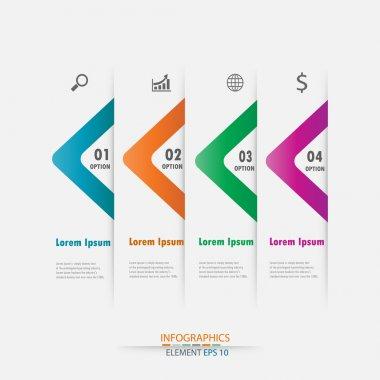 Modern design infographic arrow label element.vector illustrator design background template.