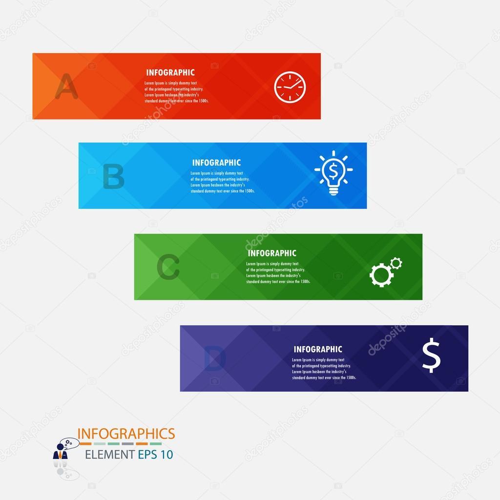 Plantilla de diseño moderno infografía etiqueta element.vector ...