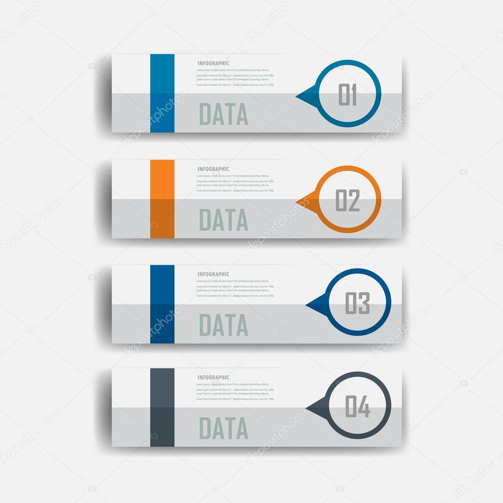 modern design infographic label element.vector illustrator design