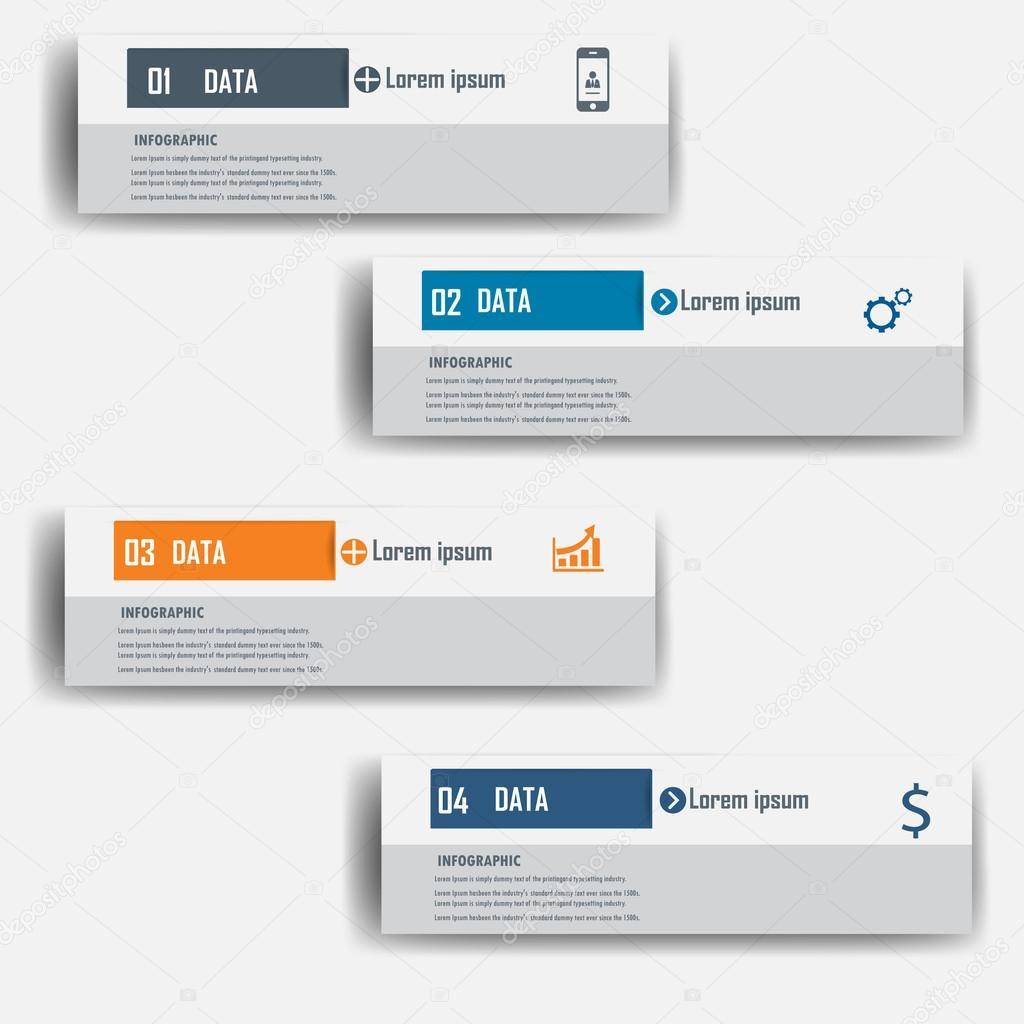 Modern design infographic label element.vector illustrator design ...